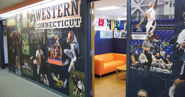 Western Connecticut Athletic Department sought to create a tribute wall
