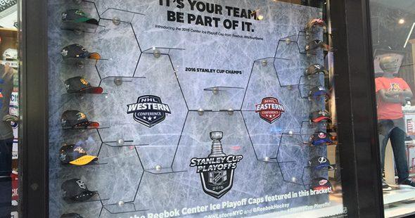 Hats off to Reebok's NHL window display
