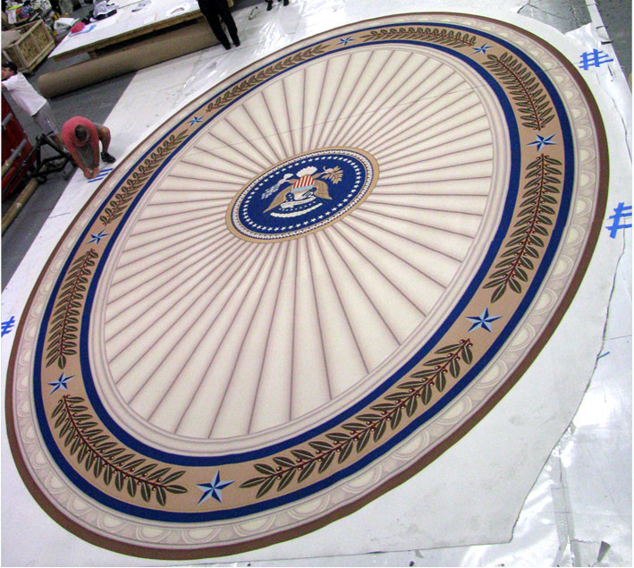 Glenn Beck's GBTV Oval Carpet Printed In Vibrant Full Color