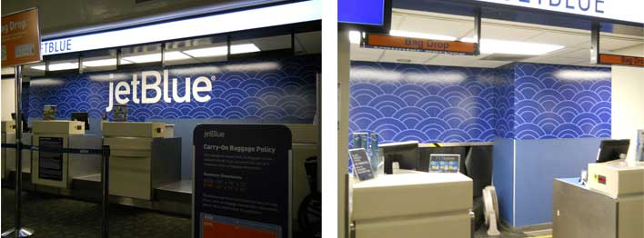 Jetblue Counter Amp Wall Graphics Installed In Long Beach