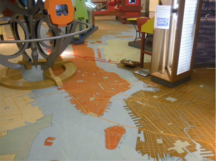 NY Historical Society Children's Museum Carpet