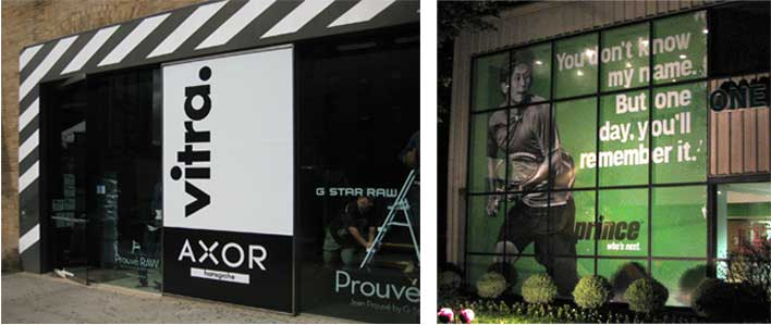 VITRA - Storefront Windows & PRINCE - Headquarters Front Windows