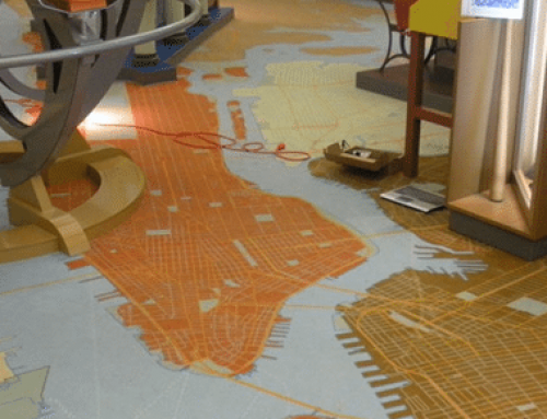 Printed Carpet Shows Off Map of NYC at New Children's Museum