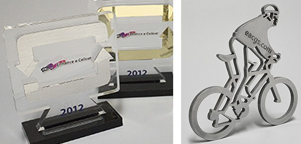 LEFT: These awards were printed on 1/2