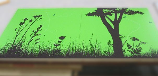 full color printing to acrylic laminated wood is childs play