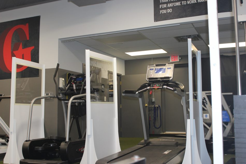 gym covid-19 safety partition dividers