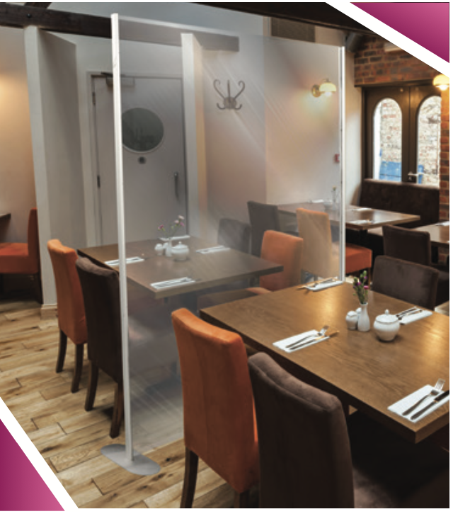 Restaurant covid-19 safety partition dividers