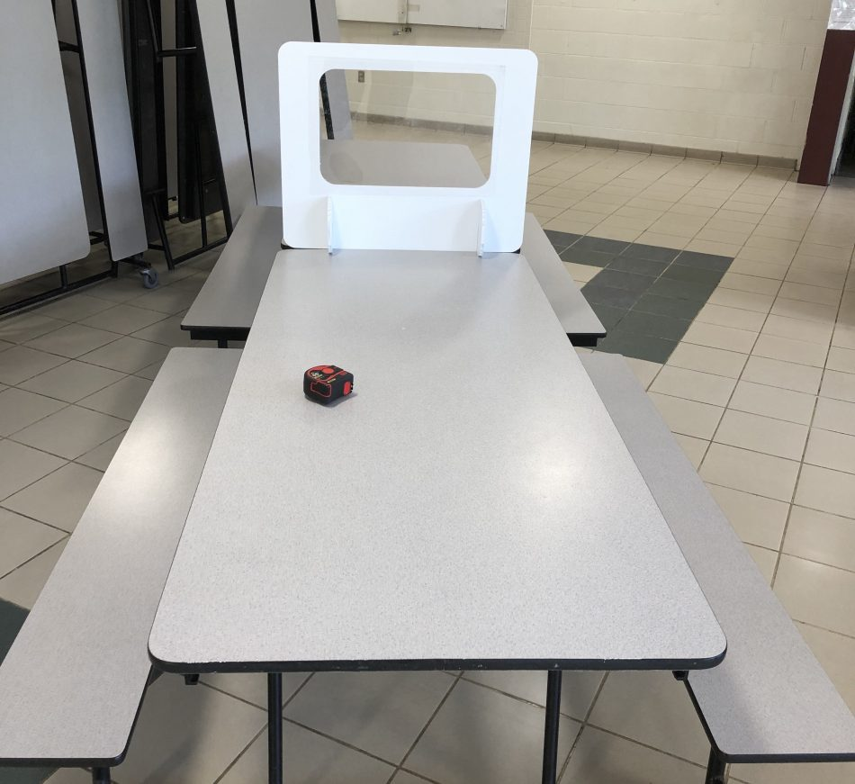 cafeteria student shield