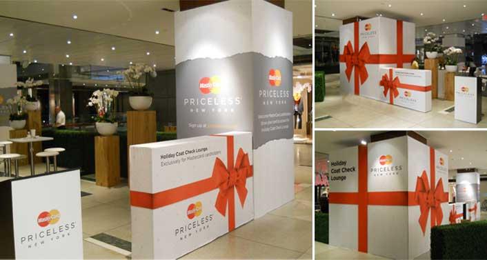 """MasterCard Holiday Lounge in the """"Shops at Columbus Circle"""""""